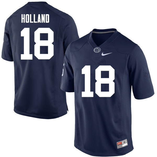 Men Penn State Nittany Lions #18 Jonathan Holland College Football Jerseys-Navy